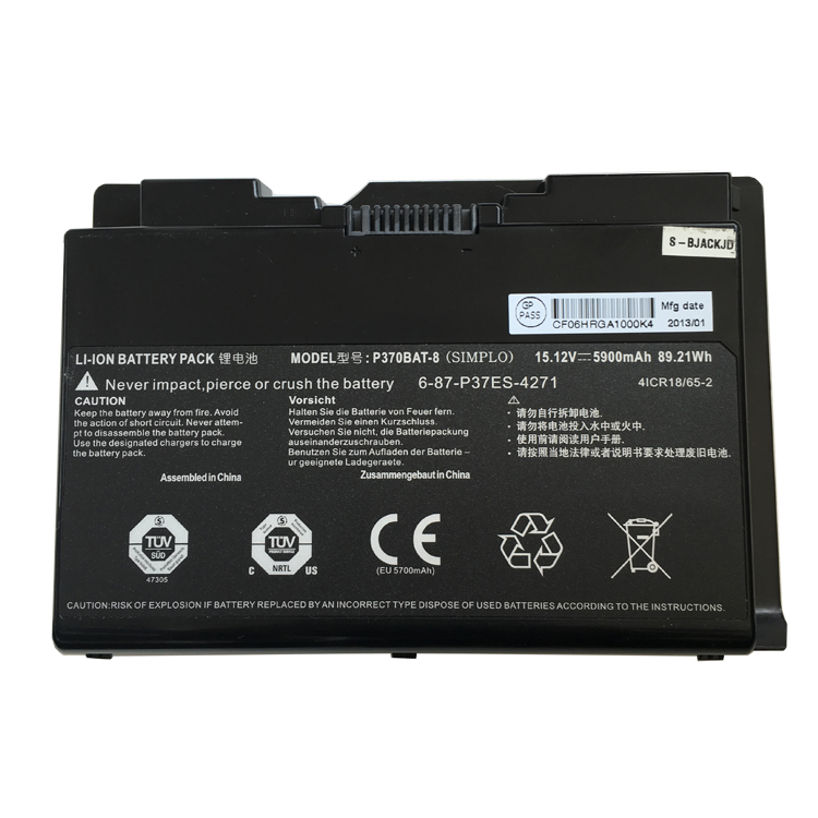 CLevo P375SM battery