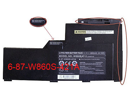 CLEVO 6-87-W86S-421A battery